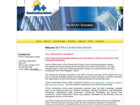 aplusconstructionschool.com