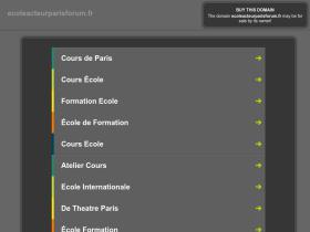 atelier-theatre-ecole-cours-cinema.ecoleacteurparisforum.fr