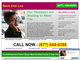 black phone dating chat lines