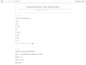 chanakya-horseracing.blogspot.com