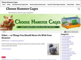 choosehamstercages.com