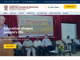 christiancollegeofeducation.edu.in
