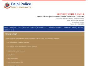 delhipolicelicensing.gov.in