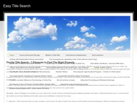 easytitlesearch.weebly.com