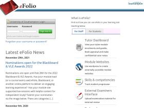 efolio.soton.ac.uk