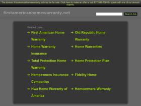 firstamericanhomewarranty.net