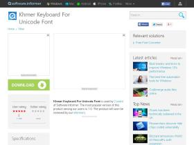 khmer-keyboard-for-unicode-font.software.informer.com