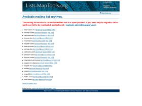 lists.maptools.org
