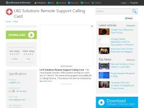 lkg-solutions-remote-support-calling-car.software.informer.com
