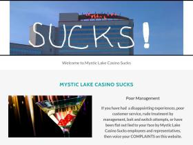 mysticlakecasinosucks.com