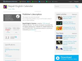 nepali-english-calendar.software.informer.com