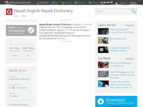 nepali-english-nepali-dictionary.software.informer.com