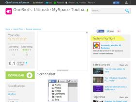 oneriot-s-ultimate-myspace-toolbar.software.informer.com