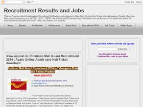 recruitmentandresultsandjobs.blogspot.in
