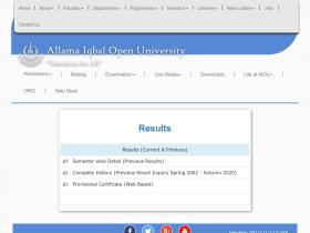 result.aiou.edu.pk