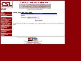 sales.capitalsoundandlight.com