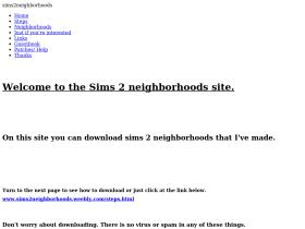 sims2neighborhoods.weebly.com