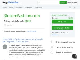 sincerefashion.com