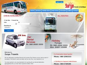 suryatravels.co.in