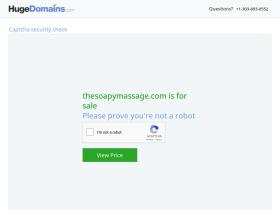 thesoapymassage.com