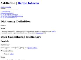 tobacco.askdefine.com
