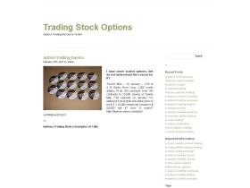 Stock option trading information