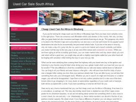 usedcarsalesouthafrica.co.za