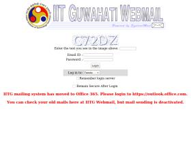 webmail.iitg.ernet.in