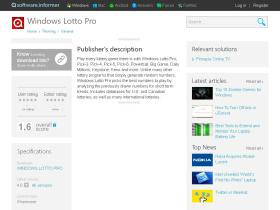 windows-lotto-pro.software.informer.com