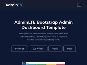 Adminlte io Analytics - Market Share Stats & Traffic Ranking