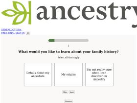 Ancestry com Analytics - Market Share Stats & Traffic Ranking