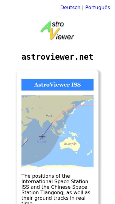 Iss astroviewer ESA