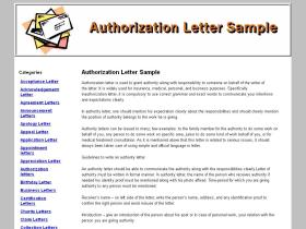 authorizationlettersample.org