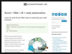 Excel To Web Automation