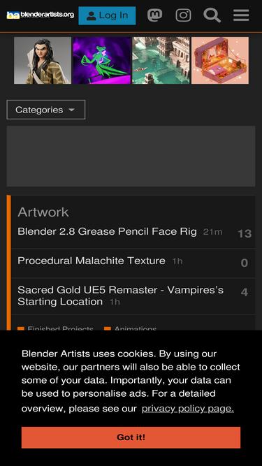 Blenderartists org Analytics - Market Share Stats & Traffic Ranking