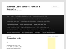 businesslettersample.net