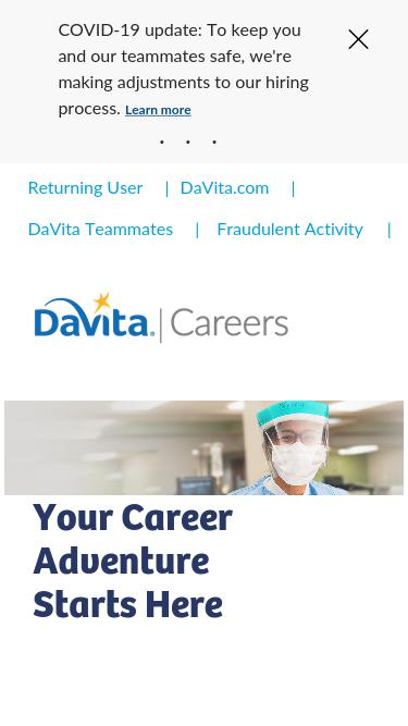 Careers davita com Analytics - Market Share Stats & Traffic Ranking