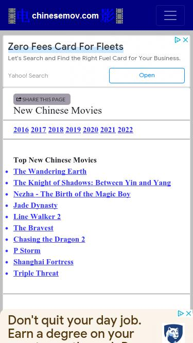 Chinesemov com Analytics - Market Share Stats & Traffic Ranking