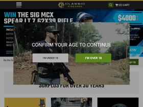 Classicfirearms com Analytics - Market Share Stats & Traffic Ranking