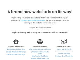 clearhealthcommunication.org