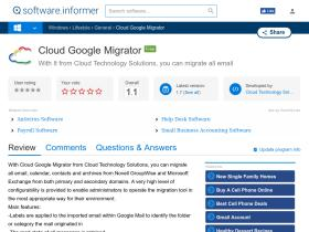 cloud-google-migrator.software.informer.com