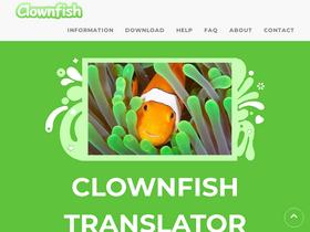 Clownfish-translator com Analytics - Market Share Stats & Traffic
