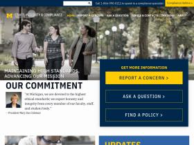 compliancehotline.umich.edu