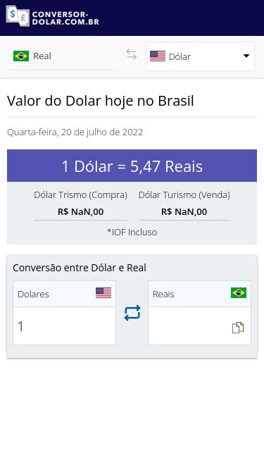 Conversao Dolar Real – Currency Exchange Rates