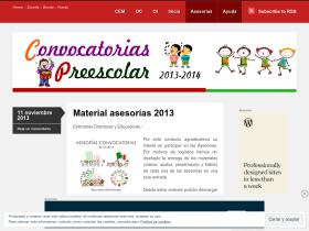 convocatoriaspreescolar.wordpress.com