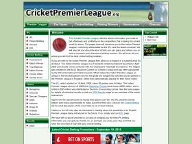 cricketpremierleague.org