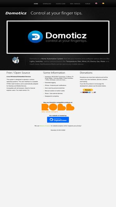 Domoticz com Analytics - Market Share Stats & Traffic Ranking