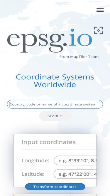 Epsg codes wkt