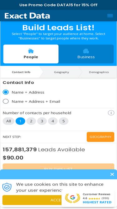 Exactdata com Analytics - Market Share Stats & Traffic Ranking