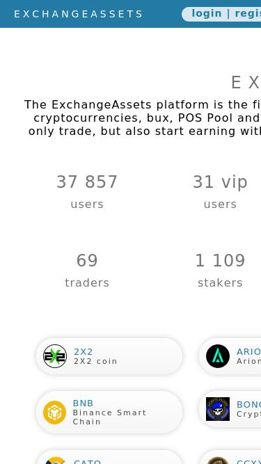 Exchange-assets com Analytics - Market Share Stats & Traffic
